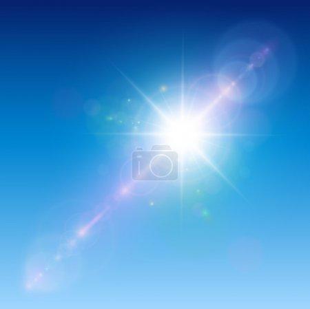 luzes, Branco, azul, Vetor, fundo, ilustração - B8750512