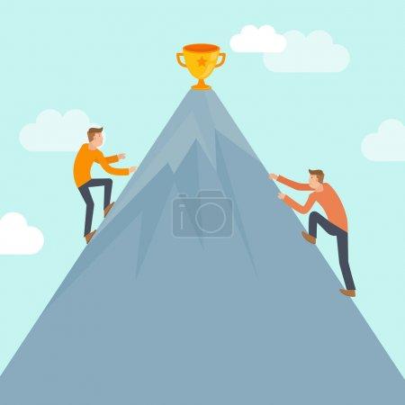 Concorrência, vetor, Ilustração, negócios, humano, Sucesso - B50796275