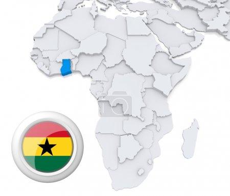 Contexto, bandeira, mapa, África, Argélia, Egipto - B28739227