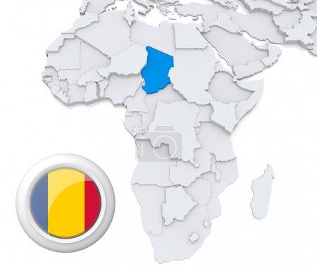 Contexto, bandeira, mapa, África, Argélia, Egipto - B28740349