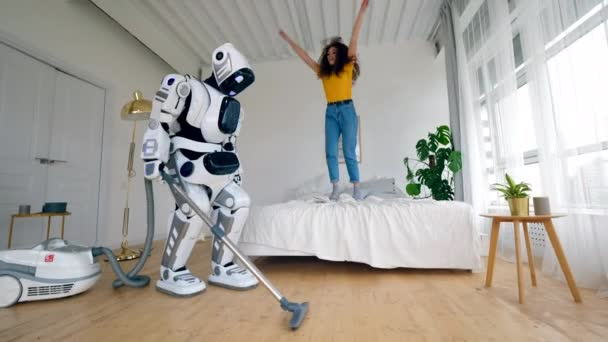 feliz artificial jovem alegre tecnologia maquina
