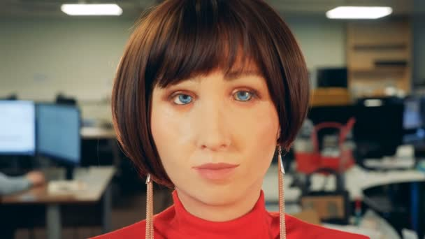 computador artificial humana femea modelo cabeca