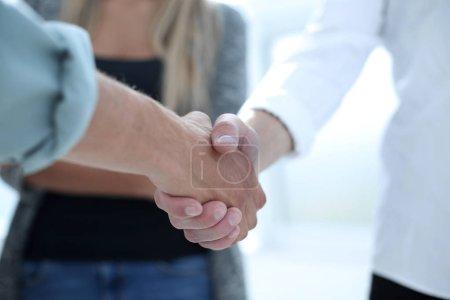 tabela, Grupo, saudação, Negócios, pessoa, fêmea - B218415528