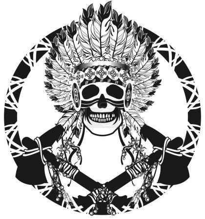 Vector, ilustração, etnia, cabeça, velho, retrô - B95569132