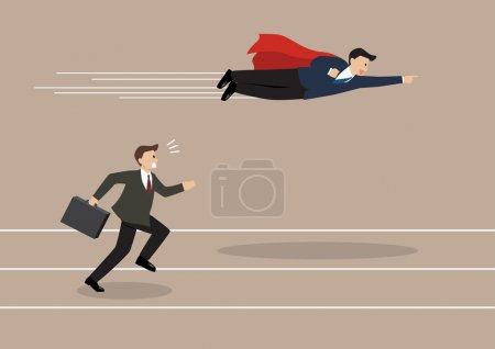 Concorrência, vetor, competitivo, Ilustração, projeto, alto - B85721526
