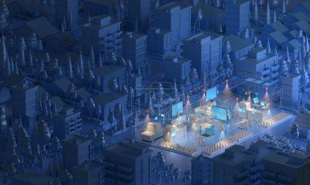 contexto renderizar projeto ambiente abstrato energia